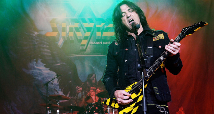 COLUMBIA, MD - APRIL 26:  Michael Sweet of Stryper performs during the 2014 M3 Rock Festival at Merriweather Post Pavillion on April 26, 2014 in Columbia, Maryland.  (Photo by Mark Weiss/Getty Images)